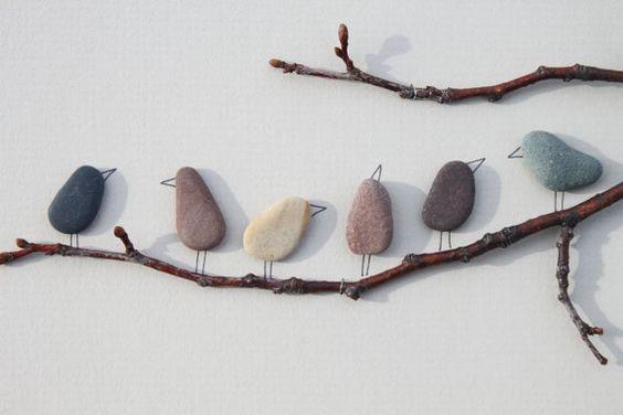 pintar-piedras-pebble-art-pajaros